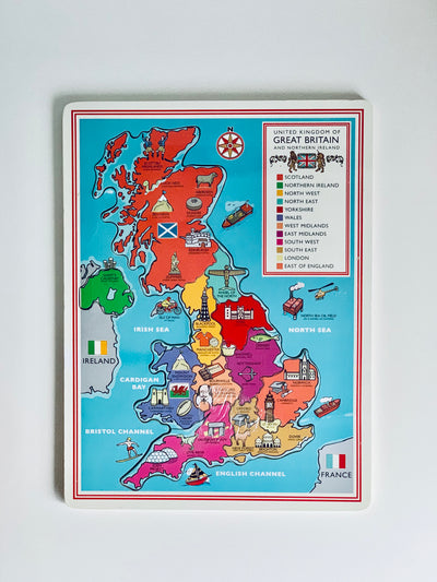 UK Map Wooden Jigsaw Puzzle