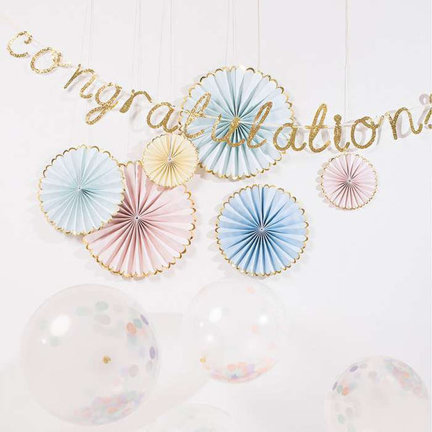 Pinwheel hanging decorations - Pastel