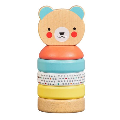 Petit Collage Happy Bear Wooden Stacking Toy