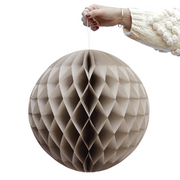 Set of 2 XL Beige Honeycomb balls