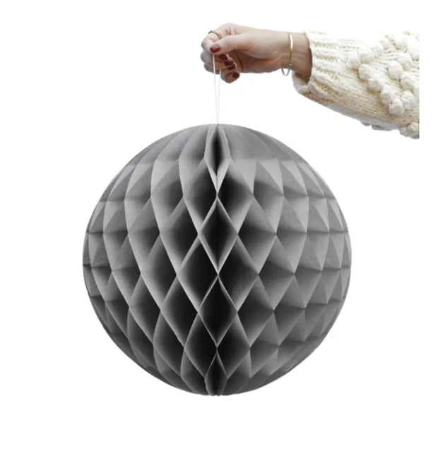 Set of 2 XL Grey Honeycomb balls