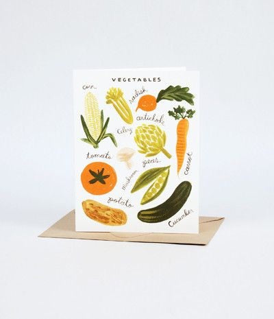 Homegrown Vegetable Garden Box Set of 8 cards