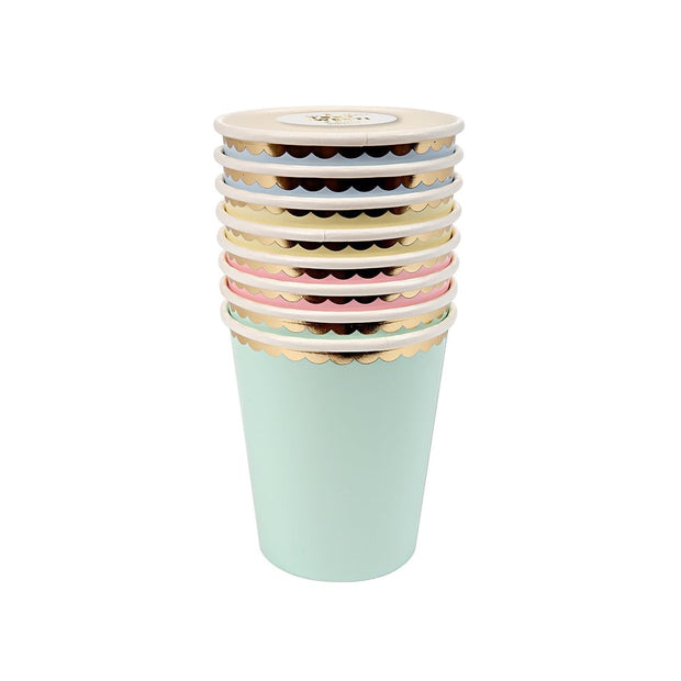 Pastel Party Cups - Set of 8