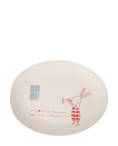 Maileg Bunny Honey Melamine Plate - Red