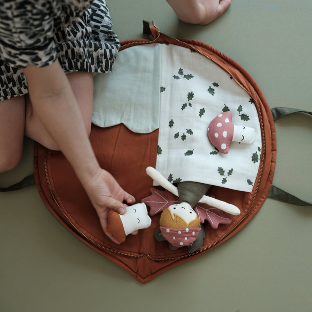 Fabelab Organic Play Purse | Mat - Leaf