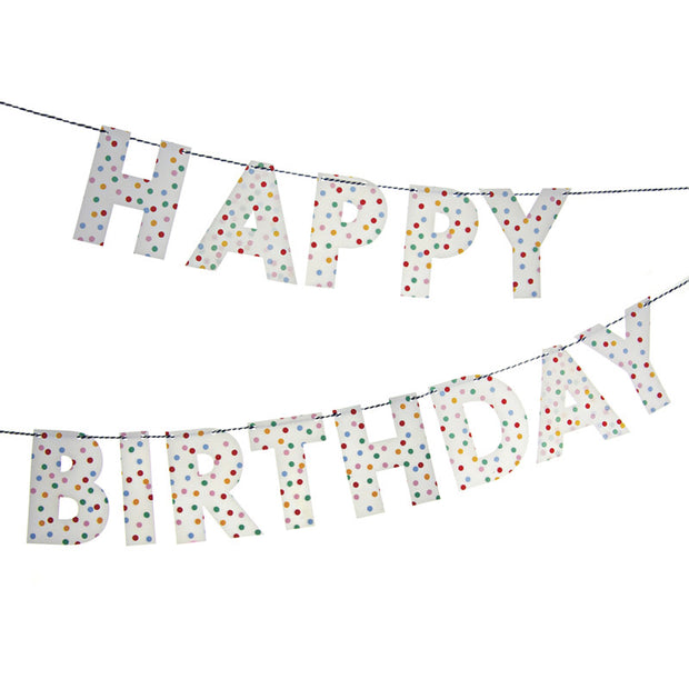 Meri Meri Polka Dot Birthday Garland