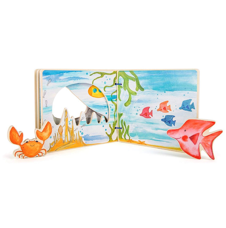 Baby's Under The Sea Wooden Interactive Book