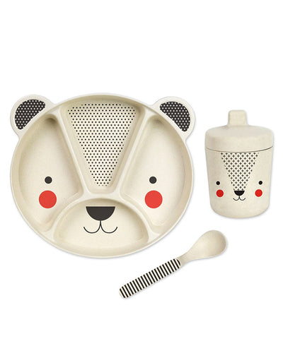 Bamboo Bear Dinner Mealtime Set