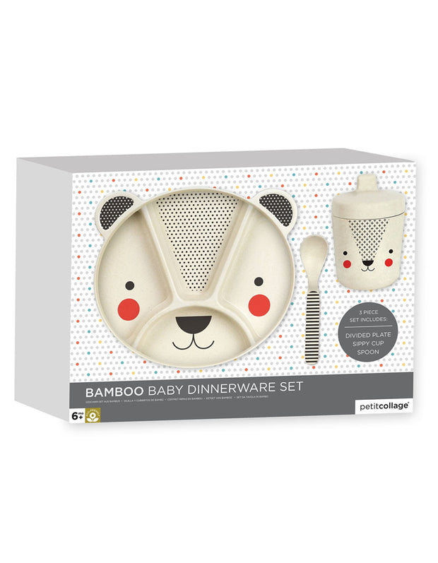 Bamboo Baby Bear Mealtime Set