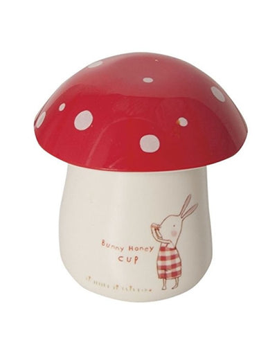 Maileg Bunny Honey Melamine Cup / Eggcup - red check