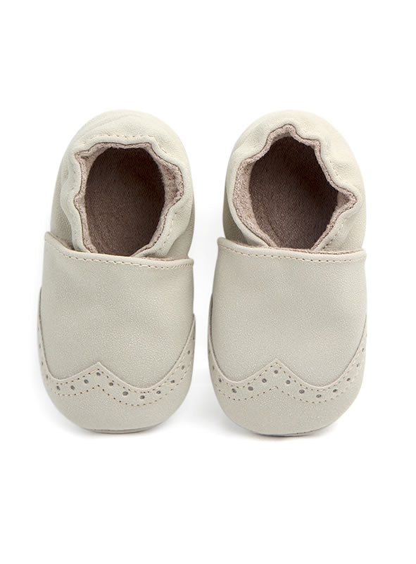 Suede Baby Booties Moccasins - Natural