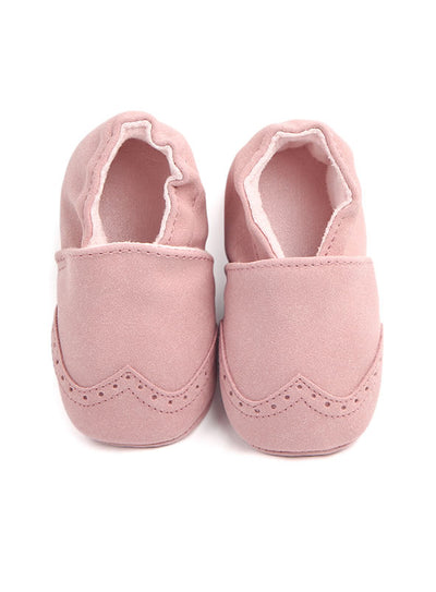 Suede Baby Booties Moccasins - Rose
