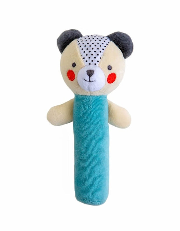 Organic Soft Squeaker Rattle - Bear