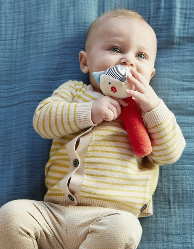 Organic Soft Squeaker Rattle - Bunny