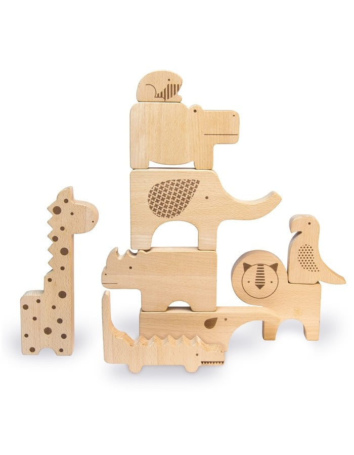 Wooden Jungle Puzzle And Stacking Set