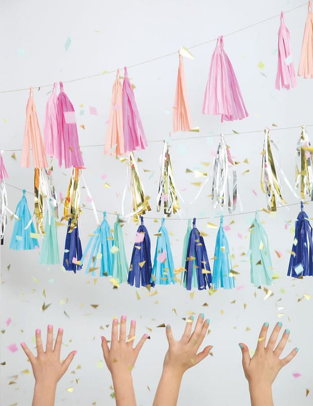 Beaded Tassel Garland - Blue