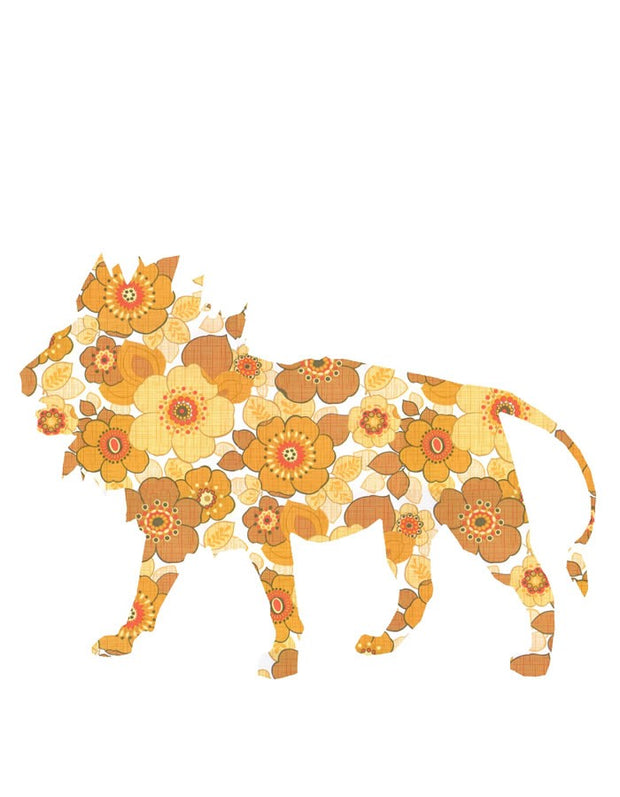 Wallpaper Lion Decal - Yellow