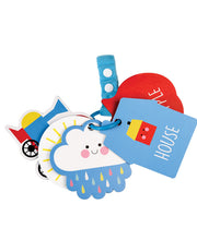 Set of 5 Stroller Cards Pram Toy - Objects