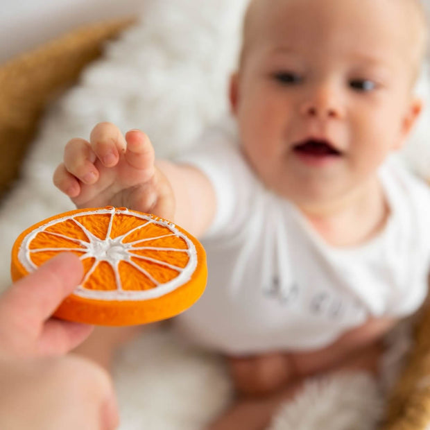 100% Natural Rubber Teether - Orange