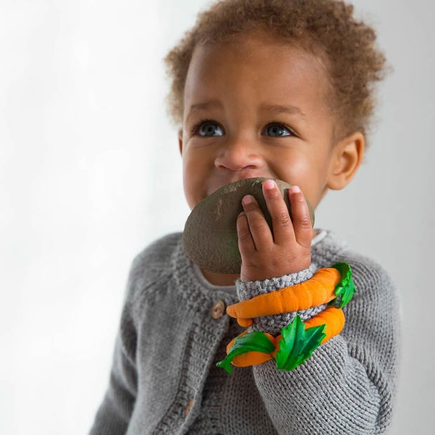 100% Natural Rubber Teether - Carrot