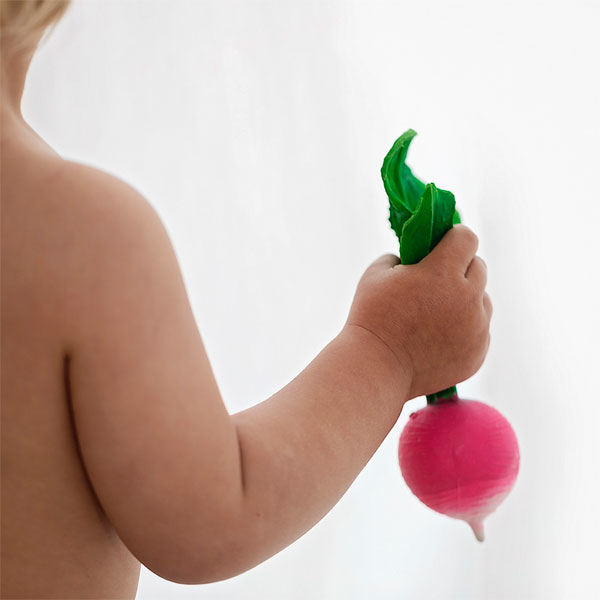 100% Natural Rubber Teether - Raddish