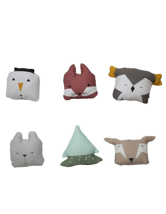 Organic Animal Ornaments Set Of Six
