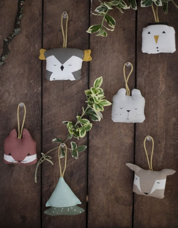 Fabelab Organic Animal Ornaments Set Of Six