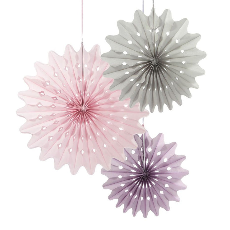 Hanging Paper Fans Set of 3 - Oslo