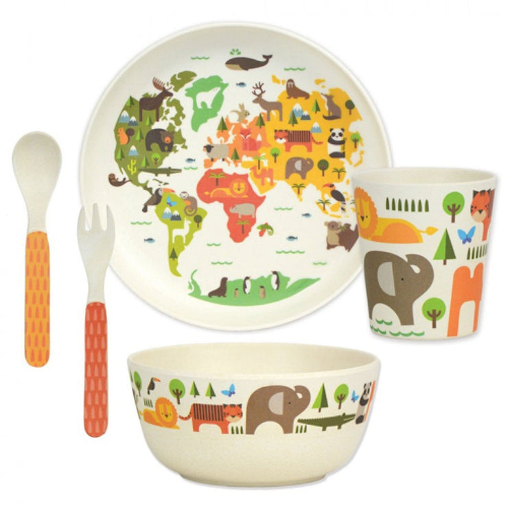 Bamboo Our World Dinner Mealtime Set
