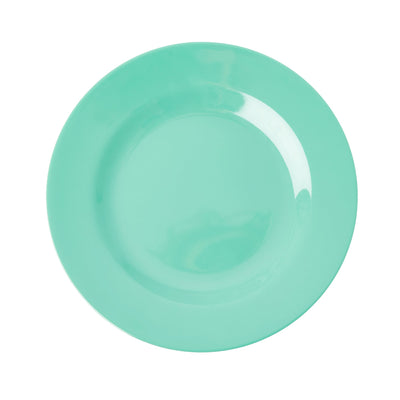 Rice Melamine Plate - Emerald Green