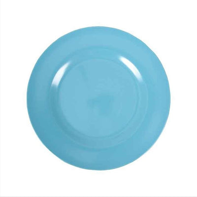 Rice Melamine Plate - Turquoise