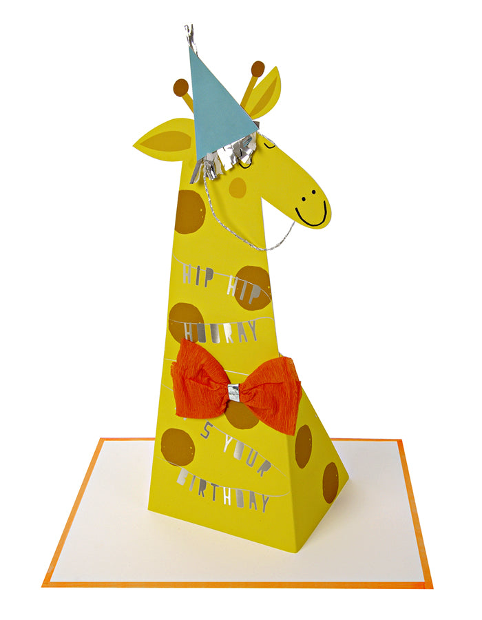 Embellished Happy Birthday Giraffe Pop Up Card