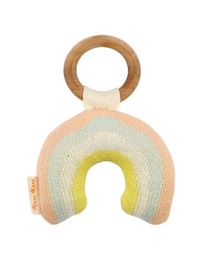 Organic Rainbow Rattle Teether