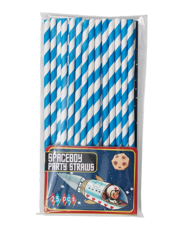 Paper Straws - Blue and White Stripe