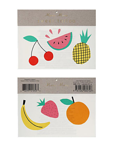 Colourful Fruit Temporary Tattoos