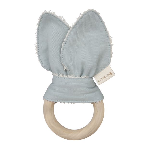 Fabelab Organic Animal Teether - Foggy Blue