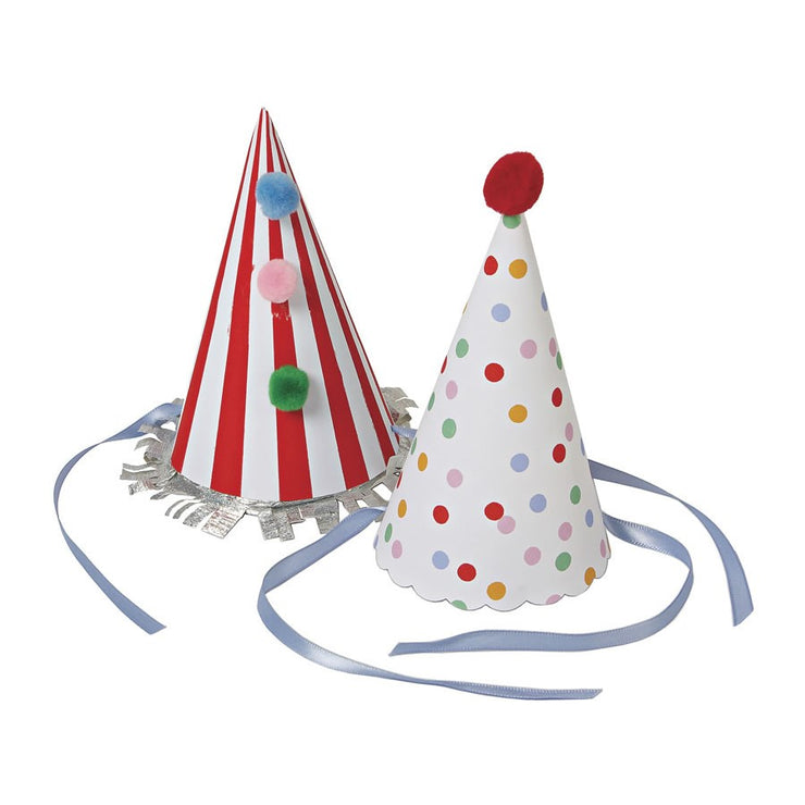 Party Hats - Spots & Stripes