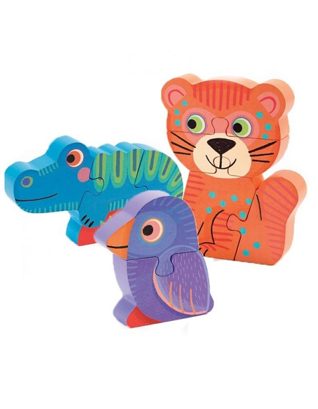 Progressive Wooden Puzzle Set of 3