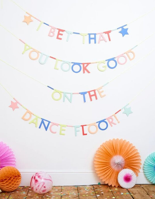 DIY Word / Letter Banner - Multi Muted