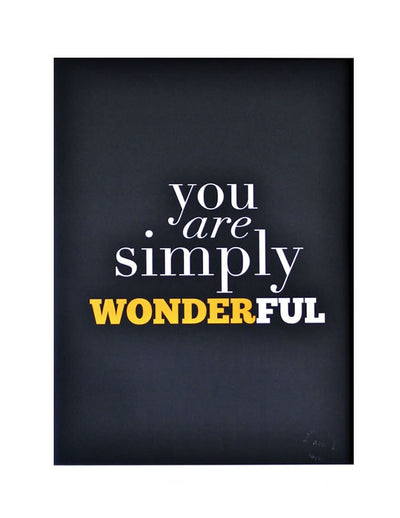 You Are Simply Beautiful Poster