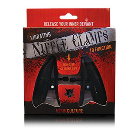 SI Vibrating Nipple Clamps 10 Func Black