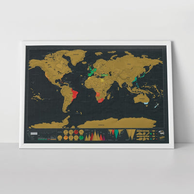 WORLD MAP TO SCRATCH, RELIVE YOUR TRIPS FROM YOUR LIVING ROOM