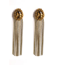 Glitz Gold Tassel Earrings - URU THE STORE