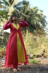Pink malli mottu jacket - URU THE STORE