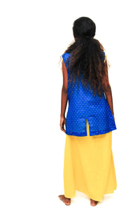 Cobalt sleeveless koti - URU THE STORE