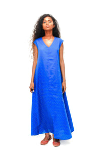 Cobalt tent dress - URU THE STORE