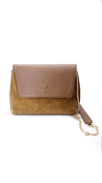 Suede Leather Evening Chain Sling - URU THE STORE