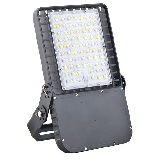 150W LED Shoebox Fixtures with U Bracket Mount and Motion Sensor
