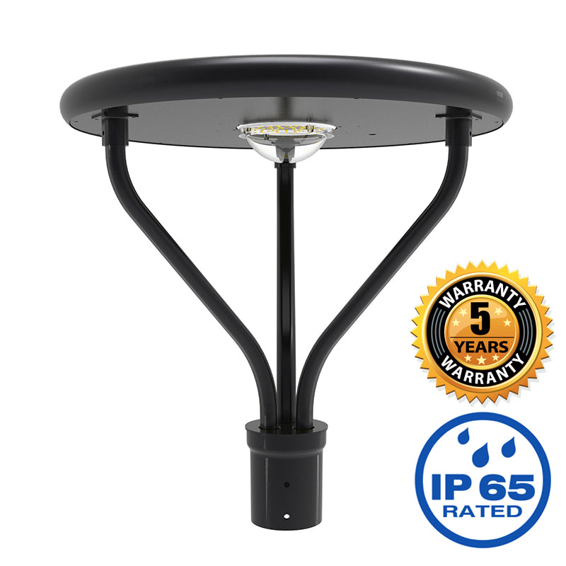 20W All in One Solar LED Pole Top Area Light 5000K