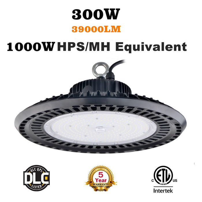 300W LED UFO High Bay Lights 347VAC 480VAC 5000K